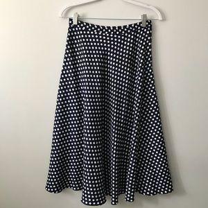 Vintage Navy Polka Dot Skirt